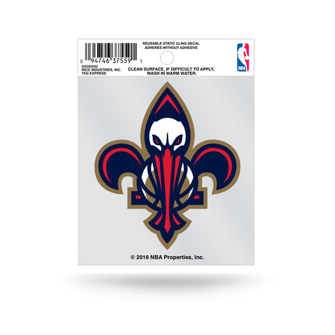 New Orleans Pelicans Fleur de Lis Static Cling Window Decal NEW Free Shipping!