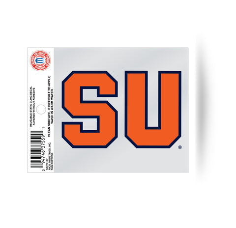 "Syracuse Orange ""SU"" Logo Static Cling Sticker NEW!! Window or Car! NCAA"