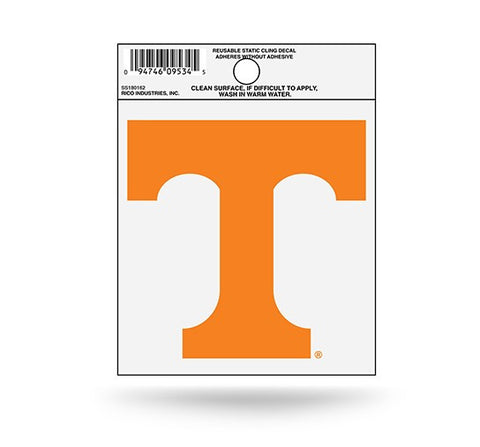 Tennessee Volunteers Logo Static Cling Decal Sticker NEW! Free Shipping