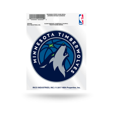 Minnesota Timberwolves Logo Static Cling Decal