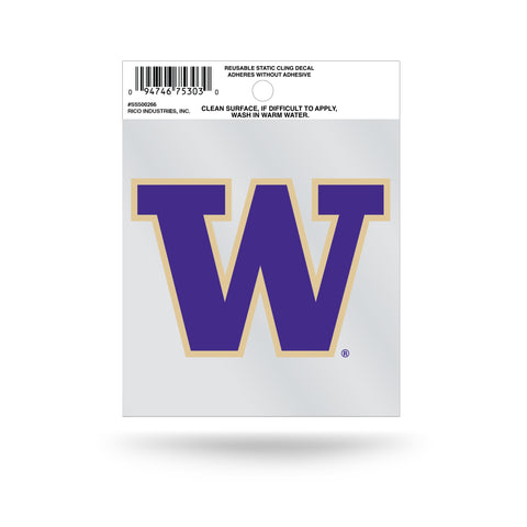 Washington Huskies Static Cling Sticker NEW!! Window or Car! NCAA