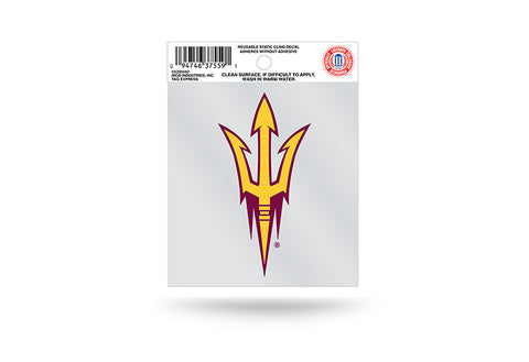 Arizona State Sun Devils Static Cling Sticker NEW!! Window or Car! NCAA