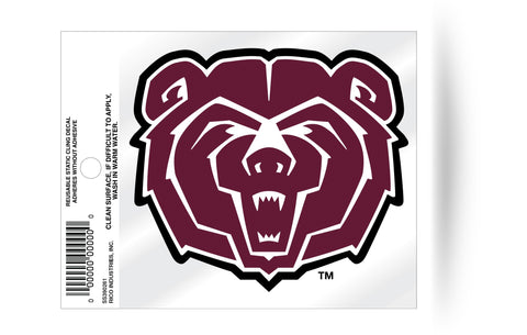 Missouri State Bears Logo Static Cling Sticker NEW!! Window or Car! NCAA