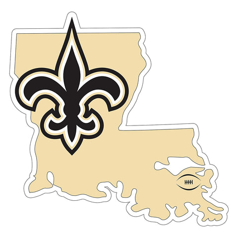 New Orleans Saints Die Cut Magnet State Outline 9 Inches NEW NFL Free Shipping!