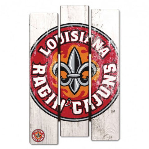 "Louisiana Ragin Cajuns Wood Fence Sign NEW! 11""X17"" Man Cave"