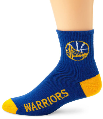 Golden State Warriors Socks Quarter Length Large Size Mens 10-13 Shoe NEW!