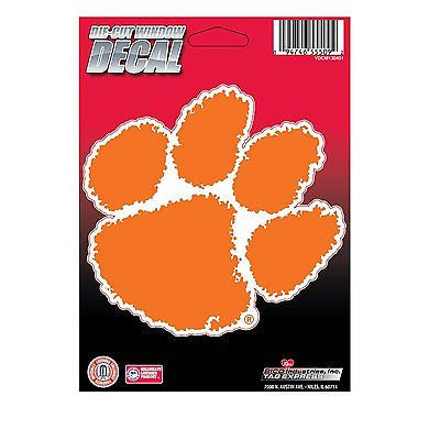 "Clemson Tigers 5"" x 5"" Die-Cut Decal Window, Car or Laptop! NEW!"