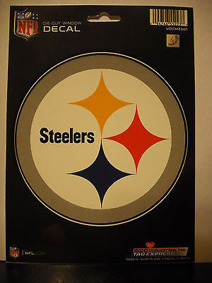 Pittsburgh Steelers Logo Die Cut Decal NEW!! 5 X 5 Window or Car! Troy Polamalu