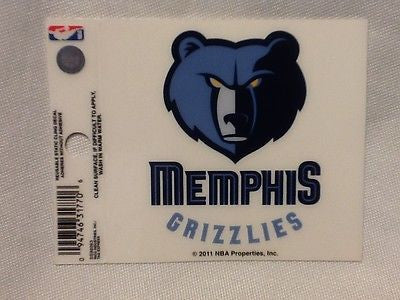 Memphis Grizzlies Logo Static Cling Sticker NEW!! Car Window!