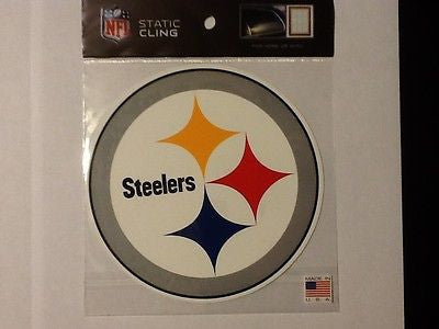 Pittsburgh Steelers Die Cut Static Cling Decal Sticker 5 X 5 NEW! Car Window