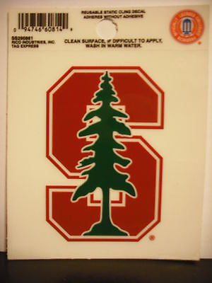 Stanford Cardinal Static Cling Sticker NEW!! Window or Car! NCAA