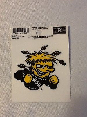 Wichita State Shockers Static Cling Sticker NEW!! Window or Car! NCAA