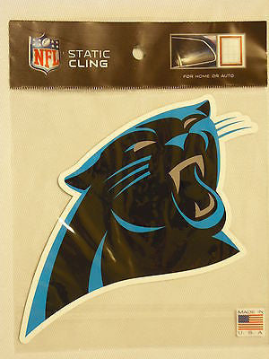 Carolina Panthers Die Cut Static Cling Decal Sticker 4 X 7 NEW Car Window