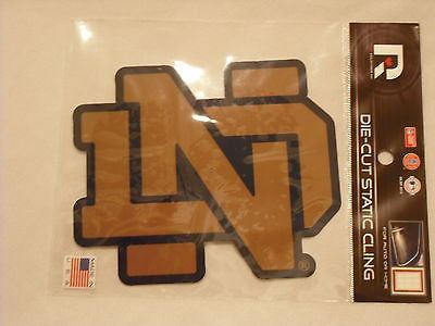 Notre Dame Fighting Irish Die Cut Static Cling Decal Sticker 5 X 5 NEW! Window