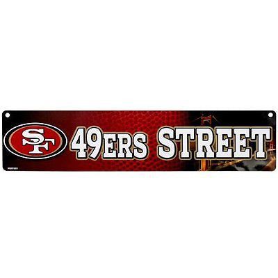 "San Francisco 49ers Street Sign NEW! 4""X16"" ""49ers Street"" Man Cave NFL"
