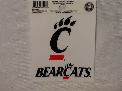 Cincinnati Bearcats Static Cling Sticker NEW!! Window or Car! NCAA