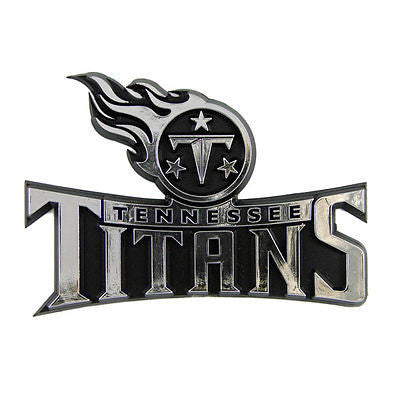 Tennessee Titans Logo 3D Chrome Auto Decal Sticker NEW! Truck Car!!