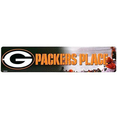 "Green Bay Packers Street Sign NEW!!! 4""X16"" ""Packers Place"" Man Cave NFL"