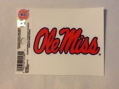 Mississippi Rebels Static Cling Sticker NEW!! Window or Car! NCAA Ole Miss