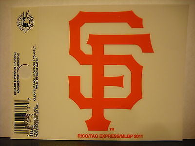 San Francisco Giants Logo Static Cling Sticker NEW!! Window or Car! Bumgarner