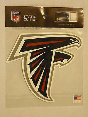 Atlanta Falcons Die Cut Static Cling Decal Reusable 5 X 5 NEW Car Window