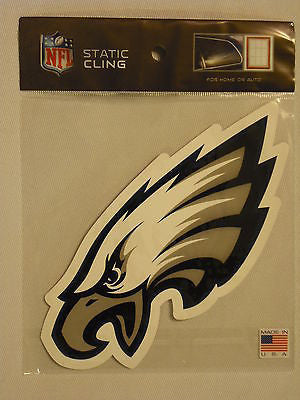 Philadelphia Eagles Die Cut Static Cling Decal Reusable 3 X 7 NEW!! Car Window