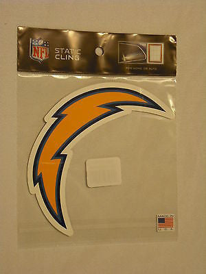 San Diego Chargers Die Cut Static Cling Decal Reusable 4 X 6 NEW! Car Window