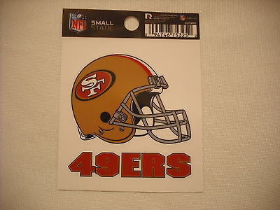 San Francisco 49ers Helmet Static Cling Sticker NEW!! Window or Car! Kaepernick