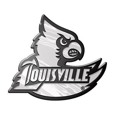 Louisville Cardinals Logo 3D Chrome Auto Decal Sticker NEW!! Truck or Car