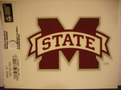 Mississippi State Bulldogs Static Cling Sticker NEW!! Window or Car! NCAA