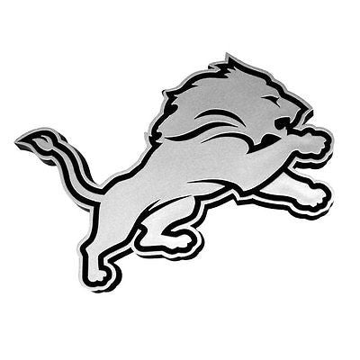 Detroit Lions Logo 3D Chrome Auto Decal Sticker NEW! Truck Car Calvin Johnson