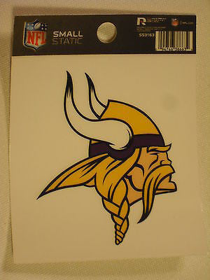 Minnesota Vikings Static Cling Decal Sticker NEW!! Reusable NFL