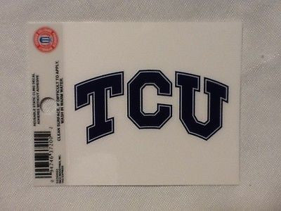 TCU Horned Frogs Static Cling Sticker NEW!! Window or Car! NCAA