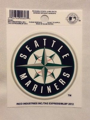 Seattle Mariners Static Cling Sticker Decal NEW!! Window or Car! MLB