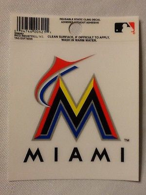 Miami Marlins Static Cling Sticker NEW!! Window or Car!