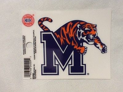 Memphis Tigers Static Cling Sticker NEW!! Window or Car! NCAA