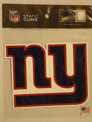 New York Giants Die Cut Static Cling Decal Sticker 5 X 5 NEW!!! Car Window