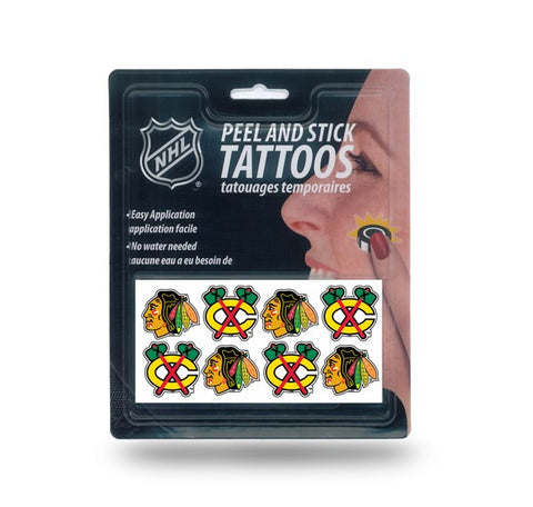 Chicago Blackhawks Peel and Stick Tattoos NEW!! Free Shipping NHL