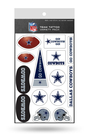 Dallas Cowboys Temporary Tattoos Team Variety Pack 12 pieces Free Shipping