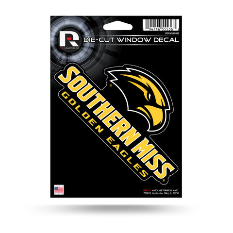 Southern Miss Golden Eagles Die Cut Decal NEW!! 3 X 6 Window, Car or Laptop!