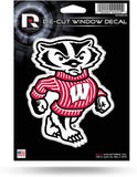 "Wisconsin Badgers 4"" x 5"" Die-Cut Decal Window, Car or Laptop! NEW!"