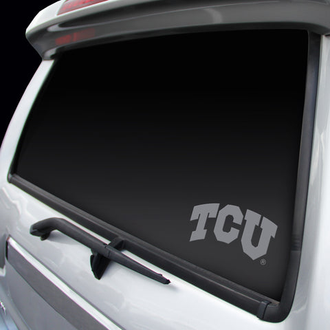 TCU Horned Frogs Logo Window Graphic Decal NEW!! Chrome FREE SHIPPING!