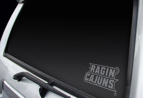 Louisiana Ragin Cajuns Window Graphic Decal NEW!! Chrome FREE SHIPPING