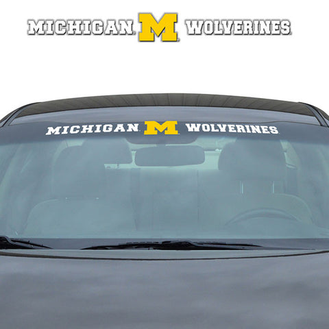 Michigan Wolverines Windshield Decal Logo and Team Name 33 Inches Across NEW!