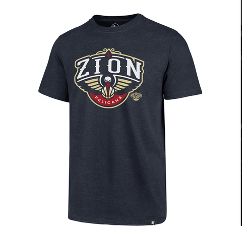 Zion Williamson New Orleans Pelicans Blue Shirt Free Shipping! Pels Logo