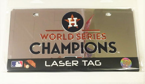 Houston Astros World Champions Laser Cut Mirror License Plate NEW!!