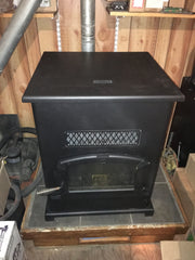 Breckwell - Big E Pellet Stove 55k BTUs for up to 2500 SqFt with 2.5 Bag Hopper