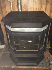 "Sold - Quadrafire CB1200 FS Wood Pellet Stove 47,300 BTU - ""The Classic Bay"""