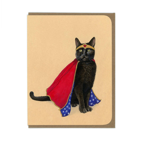 Wonder Kitty Greeting Card