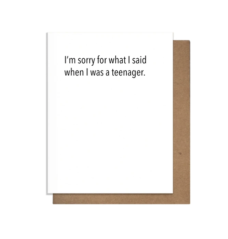 Sorry Teen Card